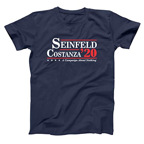 Donkey Tees Seinfeld and Costanza for President 2020 Funny Election Mens Shirt Small Navy