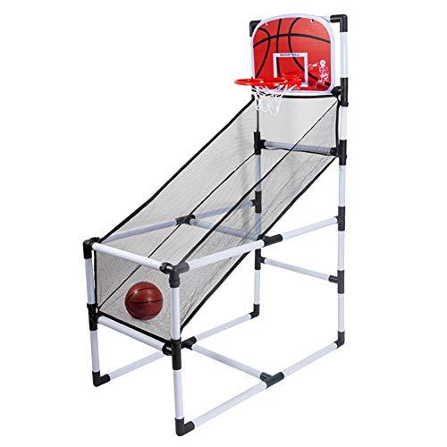 HFRTKLSAW Mini juguete para niños, portátil para interior/exterior, soporte de baloncesto, máquina de disparo, red, aro, fondo, juego deportivo para niños