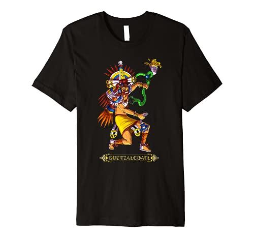 Quetzalcoatl Snake Aztec God Mythology Ancient Mayan Deity Premium T-Shirt
