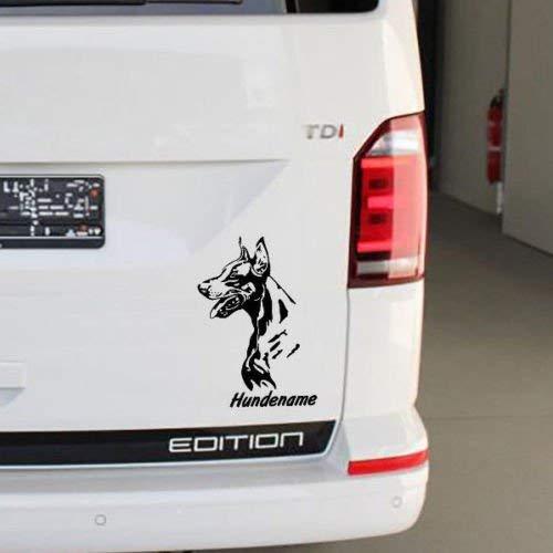 Generic Dobermann Auto Hänger Zwinger Aufkleber Sticker mit Hunde Wunschname/n