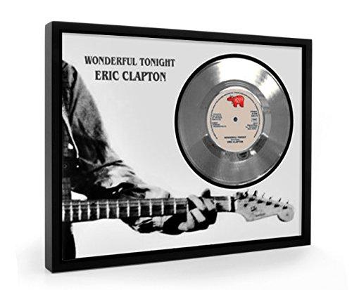 Eric Clapton Wonderful Tonight Framed Disco d'argento Display Vinyl (C1)