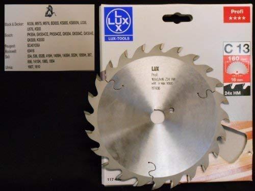 OBI LUX 117436 C13 Profi Plus HM-Kreissägeblatt 160 x 16 mm, 24 Z