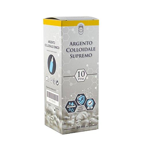 Argento Colloidale Supremo - 10ppm - Puro, Sicuro, Certificato come Dispositivo Medico CE (50ml)