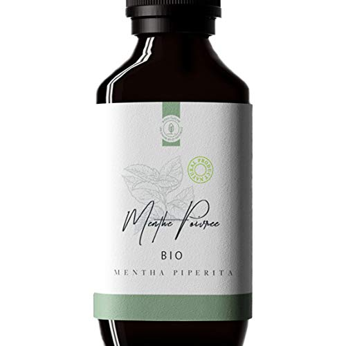 50ml Huile essentielle de Menthe Poivrée BIO (Mentha piperita) - 100% Pure, Naturelle et Biologique - Embouteillée en France