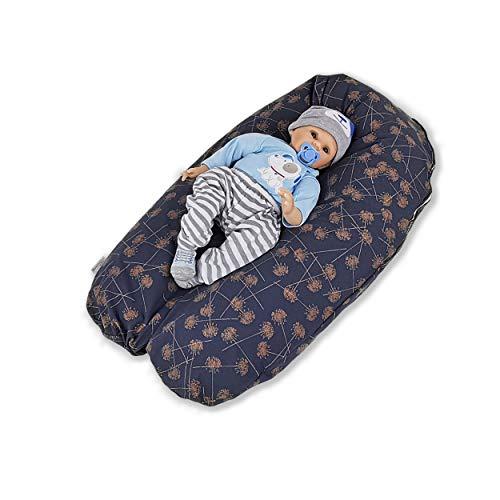 CorpoMed Stillkissen Maxi 194x34cm, Set inkl. Bezug (Blossom) , handgenäht aus Deutschland, waschbarer kuscheliger Jersey-Bezug, verwendbar als Schwangerschafts-Kissen und Lagerungskissen
