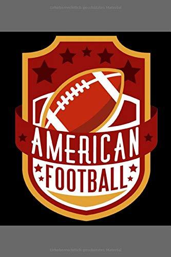 American Football: Gedottet Notizbuch Terminplaner (6x9) 120 Seiten