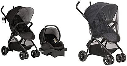 Evenflo Sibby Travel System, Charcoal with Stroller Insect Netting