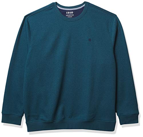 IZOD Men's Big & Tall Big Advantage Performance Crewneck Fleece Sweatshirt, Legion Blue, Large Tall