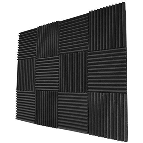 "Foamily 12 Pack- Acoustic Panels Studio Foam Wedges 1"" X 12"" X 12"""