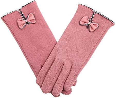 beautiful Fashion Elegant Women Touch Touch Screen Gloves Winter Plus Cashmere Women's Warmth, Cute Thickening Students Coldproof Cashmere Can Drive And Ride Wool Hair BatchScreen Glove Winter