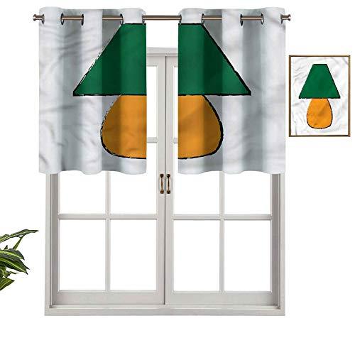 Hiiiman Cortinas pequeñas para ventana de cocina, muebles de escritorio, juego de 1, 91,4 x 45,7 cm para cocina, ventana, baño y cafetería.