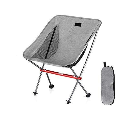 JIAX Compact aluminium frame, inklapbare boekenstoel, draagbare campingstoel, inklapbare netstoel, draagvermogen 150 kg, geschikt voor grillen, strand, reizen, picknick, wandelen, vissen