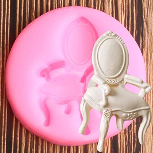 HONGYAN Silicone Moule moulle à Gateau 3D Meubles Chaise Silicone Moule Cupcake Topper Fondant Moule Bricolage fête gâteau décoration Outils Bonbons Chocolat Gumpaste Moule