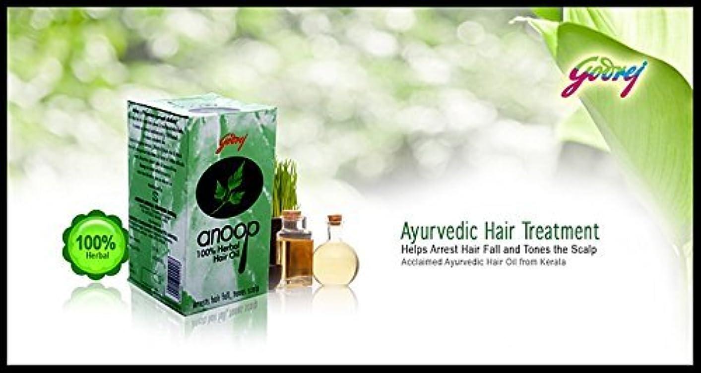 因子パーセント干し草Godrej Anoop Herbal Hair Oil, 50ml