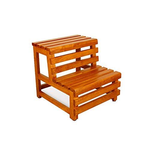 Z-H Dubbele voet ladder kruk bad thuis hout kruk stap kruk draagbare ladders