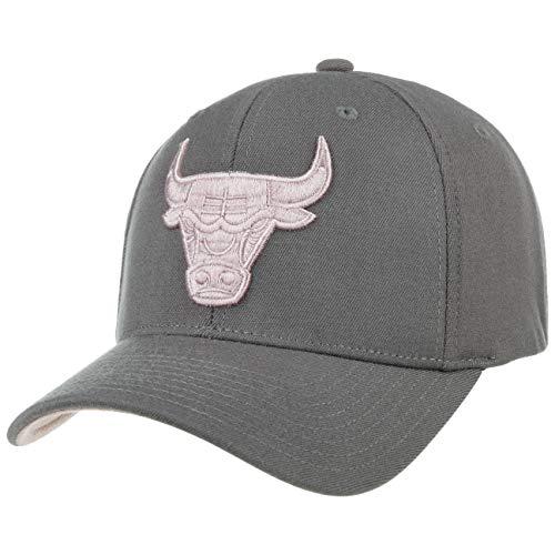 Mitchell & Ness Gorra Grey Pink Logo Snap Bulls& de Beisbol Baseball (Talla única - Gris)