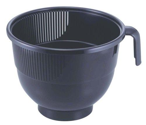 下村企販 米とぎ ボウル 日本製 洗米カップ ワイド ブラック 24522