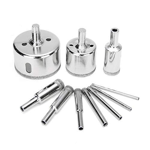 Habilidad 10pcs 3-50mm diamante Broca Conjunto de cristal de la teja de cerámica Mármol Agujero sierra de perforación abridor eléctrico Accesorios fit for herramientas de perforación Comprensivamente