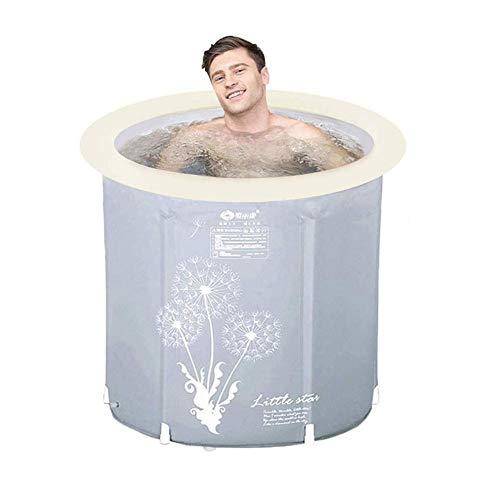CTEGOOD Badewanne Faltbare Barrel Kunststoff faltbar Tragbare Badefass Anti-Rutsch Isolierung Ideal für kleine Duschkabine, Badezimmer Spa, einfach zu installieren70×70cm GJXJY