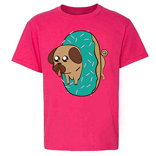 Pugnut! Pug in A Donut Pink 5 Toddler Kids T-Shirt