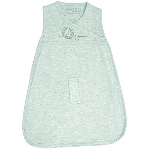 Cocooi Merino Bébé Sac de couchage pour Nouveau-né, Vert clair imprimé