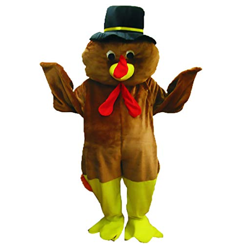 Dress Up America Volwassene Thanksgiving Turkije Mascotte Kostuum Set