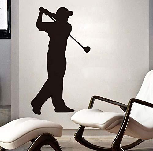 Wandaufkleber Größe Golfer Blume Vinyl abnehmbare selbstklebende Figur Umriss Muster Hauptdekoration Zubehör 57x103cm
