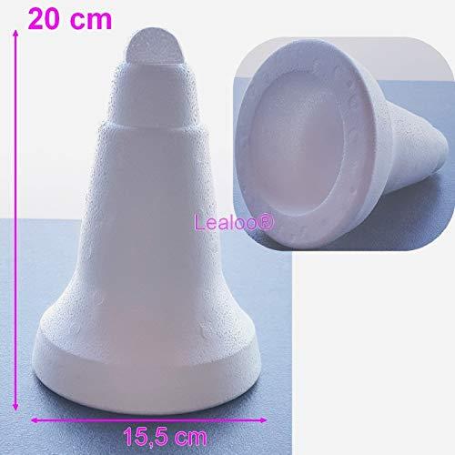 Lealoo Grande Cloche polystyrène Hauteur 20 cm, diamètre 15,5 cm, densité supérieure