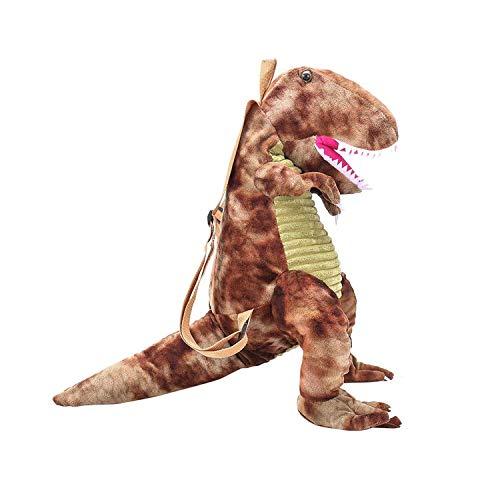 Dynobag - Mochila de dinosaurios para niños, mochila de dinosaurio 3D, mochila para niños de 2 a 6 años (marrón, 60 cm de altura)