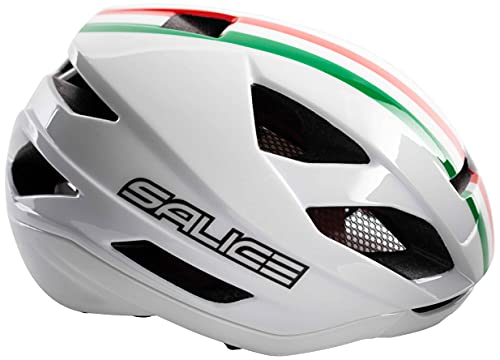 SALICE Bianco Italia, Casco Bike TG. 52-58 Unisex Adulto