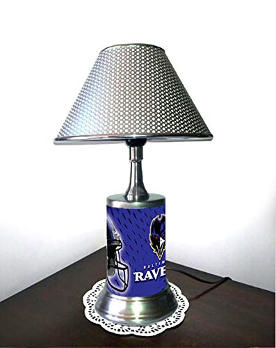 HBG Table Lamp with Shade, a Plate Rolled in on The lamp Base, BaRa