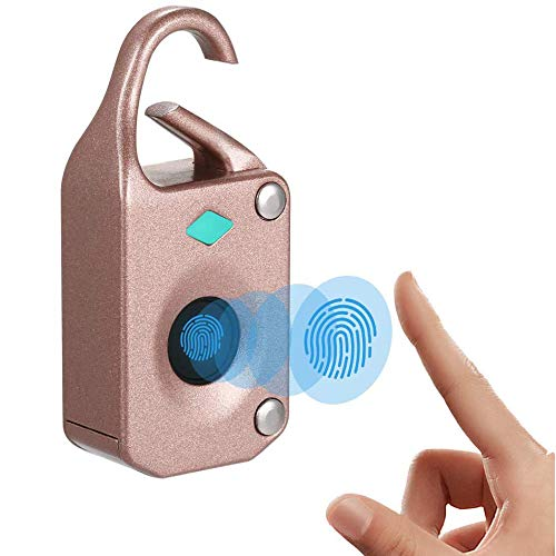 jjff Smart Fingerprint Padlock, Smart Bluetooth Security Lock with USB Charge, IP65 Waterproof, Metal Keyless Padlock Suitable for Gym, Locker, Door, Suitcase, Backpack, Gym, Bike