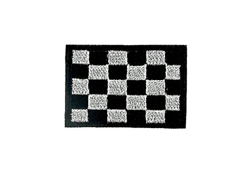 Embroidered Backpack Motorcycle Flag Chequered Racing Flag Iron-on Patch