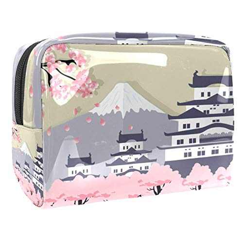 Trousse de maquillage multifonction pour les produits de toilette de voyage pour femme Japon pagode Sakura Fuji Mountain