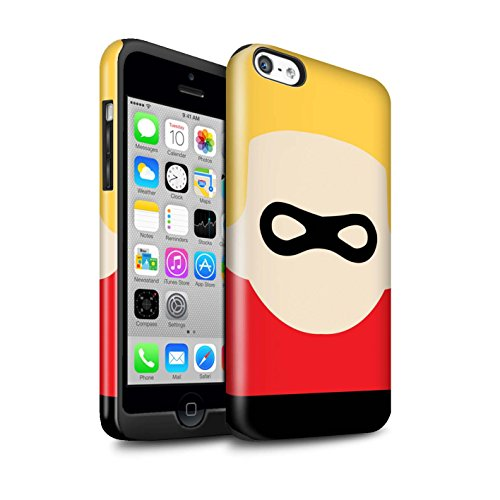 Stuff4® glanzende harde schokbestendige hoes/case voor Apple iPhone 5C / masker karakter patroon/cartoon superheld kunst collectie
