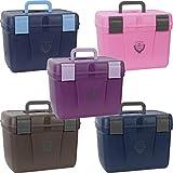 HKM PFIFF 101562-222-2 - Caja de Limpieza para Caballos, Estable, Grande, Color Rosa y Gris