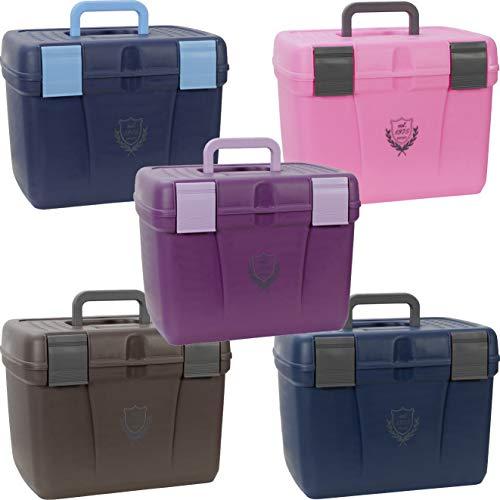PFIFF 101562-223-2 Putzkiste Putzbox für Pferde stabil groß, L, blau-grau