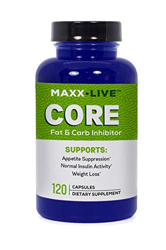 Maxx Live Core - Fat Burning Hormone with Lepticore - Carb Inhibitor - Leptin Resistance Support -120 Capsules
