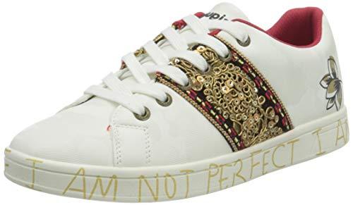 Desigual Damen Shoes_Cosmic_India Sneaker, White, 37 EU