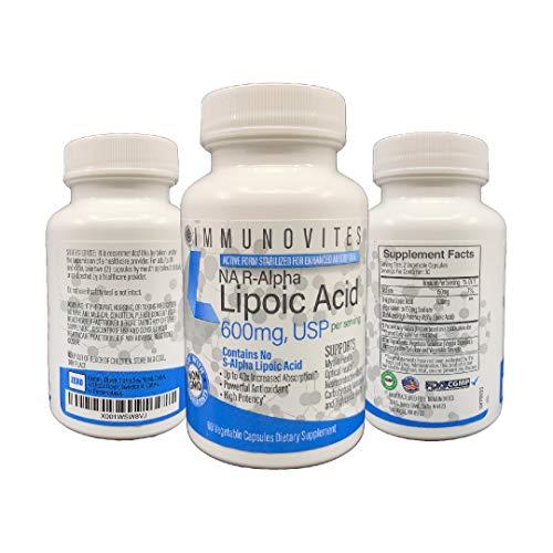 3-Pack Stabilized R-Alpha Lipoic Acid ((True)) 600mg per Serving [[High Potency & up to 40x Increased Absorption]] (Na R-ALA) (Na R-LA) (Na R-Lipoate) (3 Bottles)