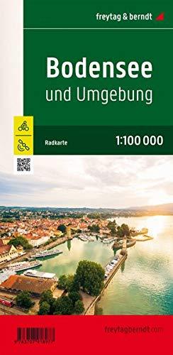 Bodensee und Umgebung, Radkarte 1:100.000 (freytag & berndt Wander-Rad-Freizeitkarten)