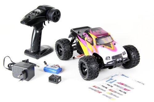 XciteRC 30505000 RC Auto Monster Truck one16 MT, 4WD Ready to Race Modellauto, 1:16 mit 2.4 GHz Fernsteuerung, schwarz