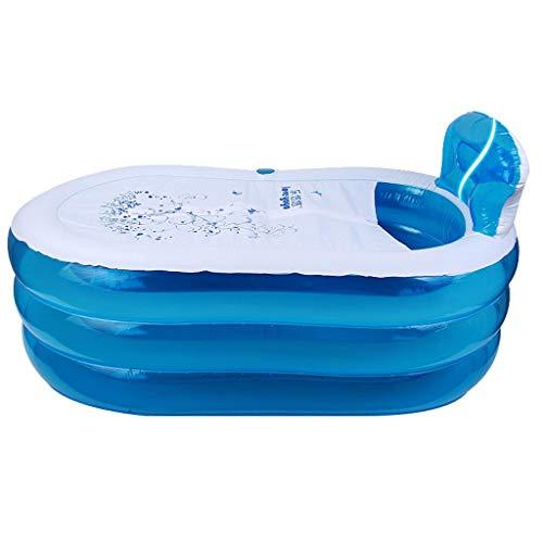 CWTC Vasca da Bagno Pieghevole Portatile, per Vasca da Bagno Ad Angolo per Adulto/Elasticizzazione Spa Spa Materiale PVC Sanitario