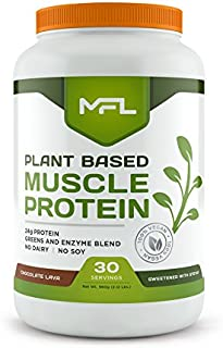 MFL Vegan, Plant-Based Protein Powder l Gluten Free l Non Dairy l Non GMO l Lactose Free lKeto-Friendly |2.12 lbs (Choco...