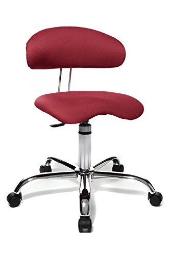 Topstar ST290W51 Fitness Silla de Oficina giratoria con Respaldo Sitness 40 para tapicería de Peluche Rojo