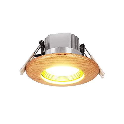 Modenny Faretti da soffitto tondi in Legno massello 3W5W Faretti Faretti a Incasso a Luce indiretta da Incasso a LED per Pannelli a LED Lampada da Incasso per Interni in Alluminio a Luce Bianca/Luce