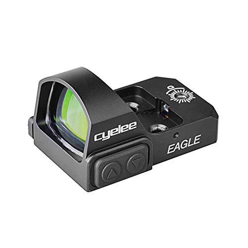 Cyelee Micro Red Dot Sight, Mini 3 MOA Green Dot Reflex Sight, with Weaver/Picatinny Mount for Pistol/Rifle/Shotgun (Eagle-RED DOT)