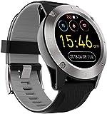 hwbq Reloj Inteligente 1.3 'Pantalla Táctil Completa Al Aire Libre Impermeable Posicionamiento Bluetooth Multi-Función Deportes Reloj Inteligente Rojo-Gris