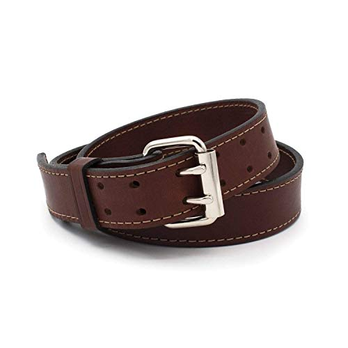 """The """"Double Tap"""" Leather Gun Belt   Made in USA   14 oz Full Grain Leather CCW Belt"""