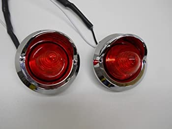 United Pacific  2  Red 2  Round 9 LED Beehive Mini Stop Turn Brake Tail Lights/Golf Carts